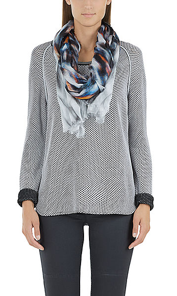 Pull long aspect maille filet