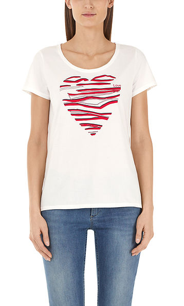 Cotton shirt with love print