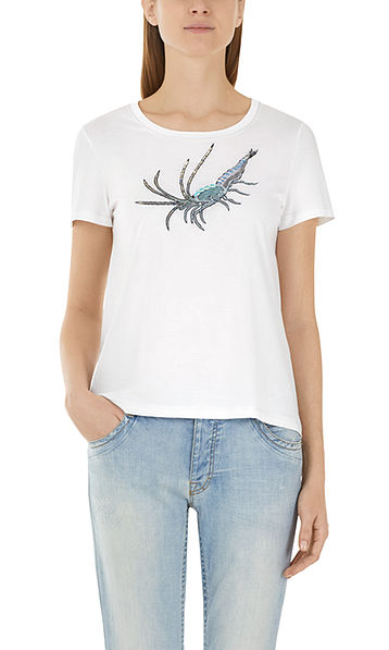 Shirt mit Perlenstickerei