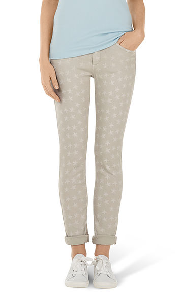 Jeans with star print