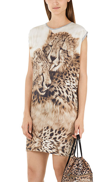 Maleika dress with cheetah print