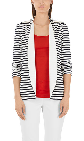 Striped stretch cardigan