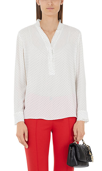 Blouse with miniature dots