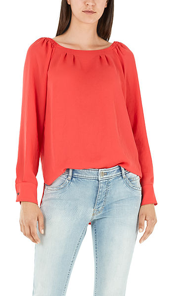 Blouse with Carmen neckline