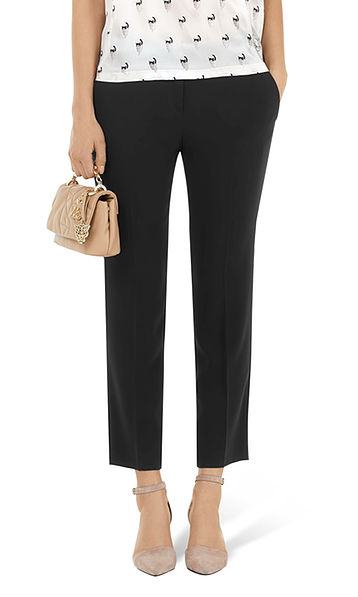 Trousers in crepe