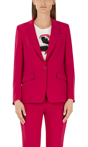 Blazer with glossy buttons