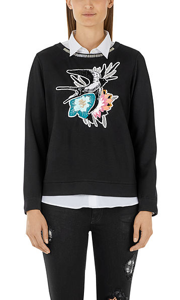 Embroidered sweatshirt