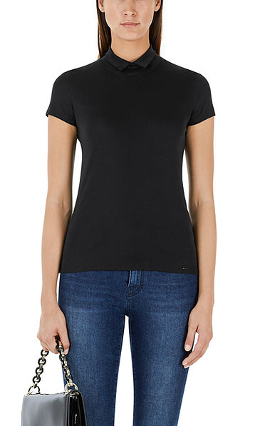 Stretchy top with collar