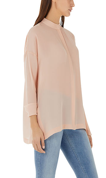 Wijde zijden blouse
