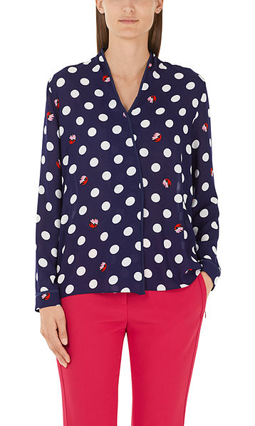 Fashionable blouse with polka dots