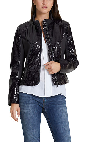 Gloss jacket with neoprene inserts