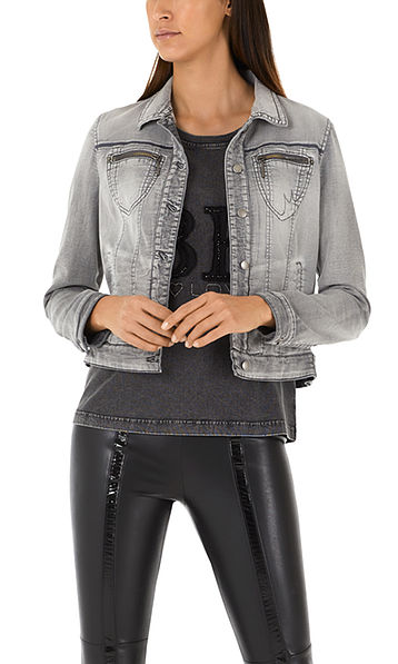 Jeans jacket with special washed look