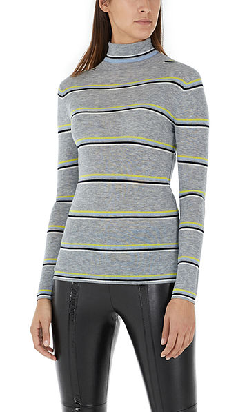 Roll-neck pullover with cashmere