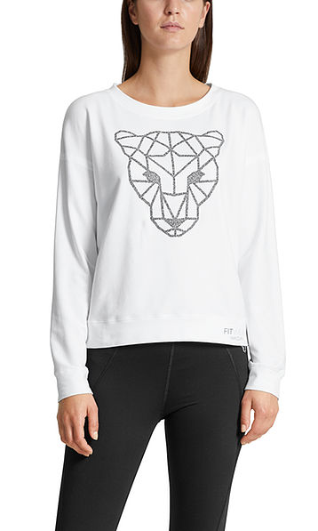 Fitwear sweatshirt with decoration