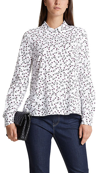 Cotton blouse with floral print