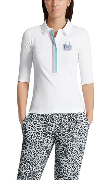 Polo shirt in fine jersey