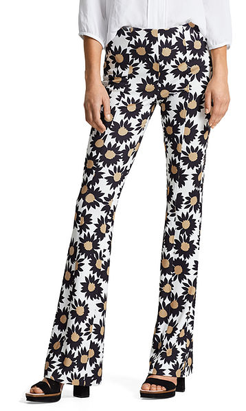 Jersey pants with flowers