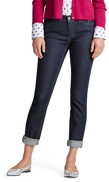 Jeans with contrasting seams