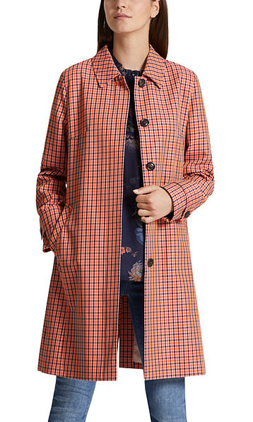 Manteau jacquard à carreaux