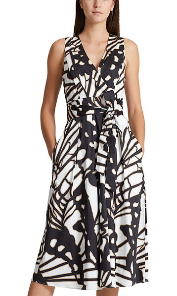 Dress with butterfly print