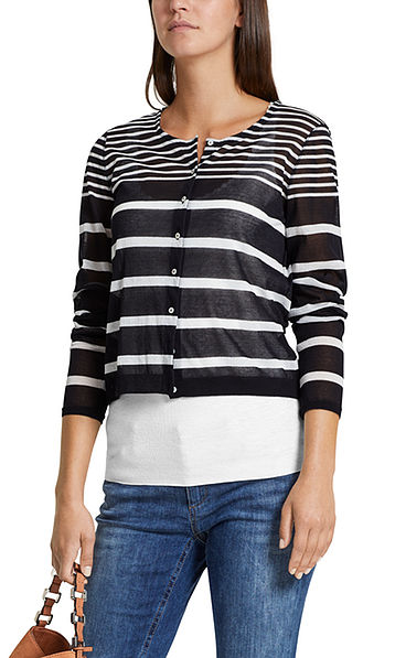 Knitted jacket with fun stripes