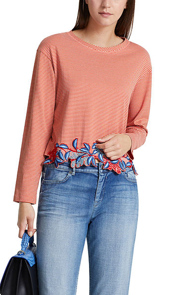 Top with embroidered border