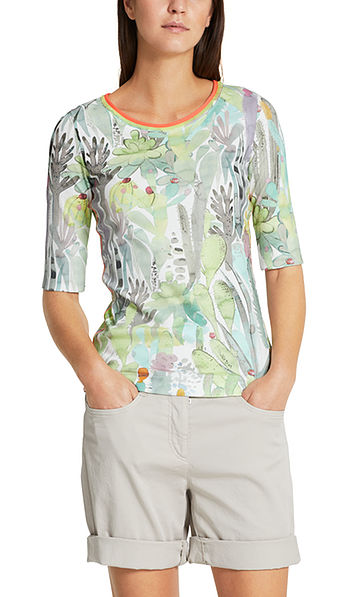 Top with cactus print