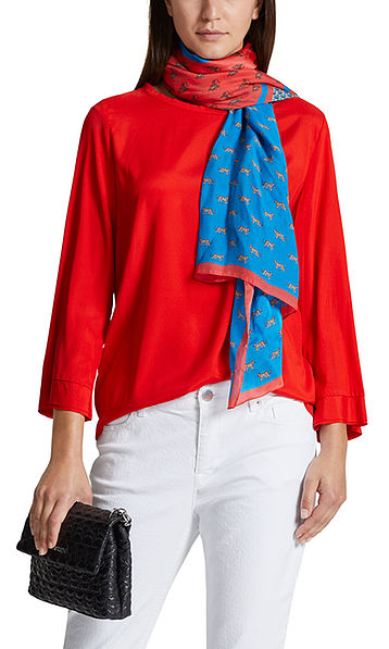 Blusenshirt aus Seidensatin