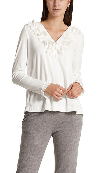 Blouse-style top with frills