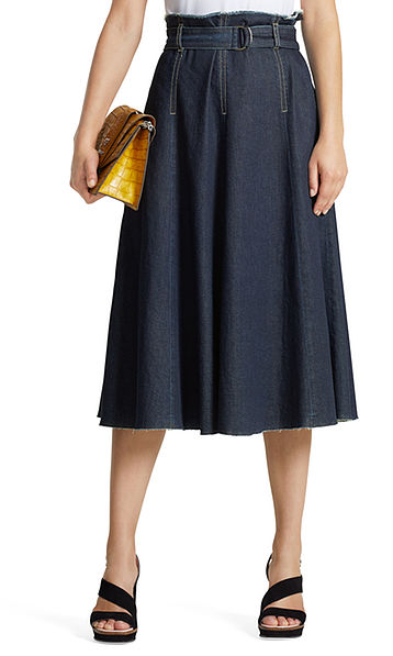 Couturish denim skirt