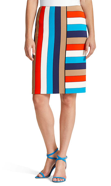 Skirt in stretch viscose