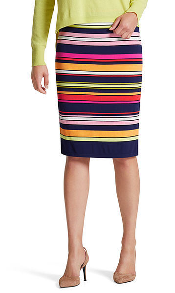 Skirt with multicoloured stripes