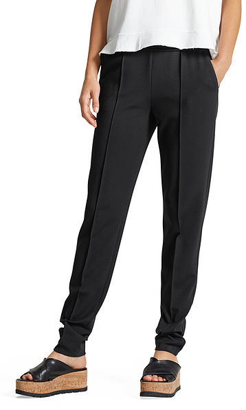 Pants with fold-over waistband