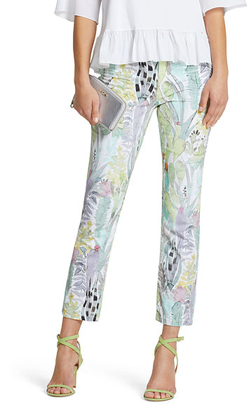 Jeans à imprimé cactus