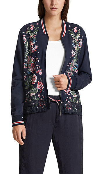 Printed cotton jacket