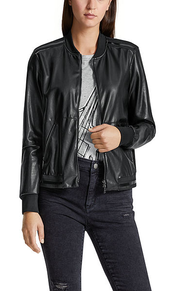 Leather-effect blouson