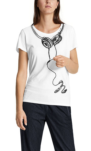 Top with headphone print
