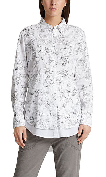 Blouse with sketch print