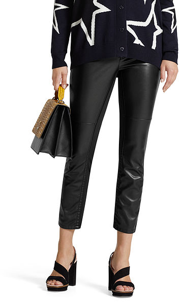 Leather effect pants