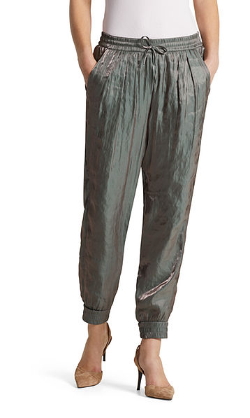 Pantalon van changeant materiaal