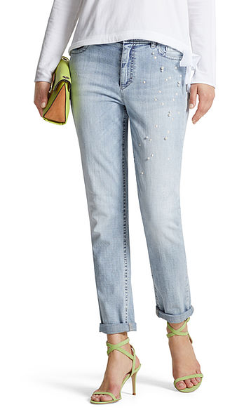 Jeans met pareltjes