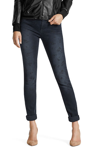 Jeans with laser print