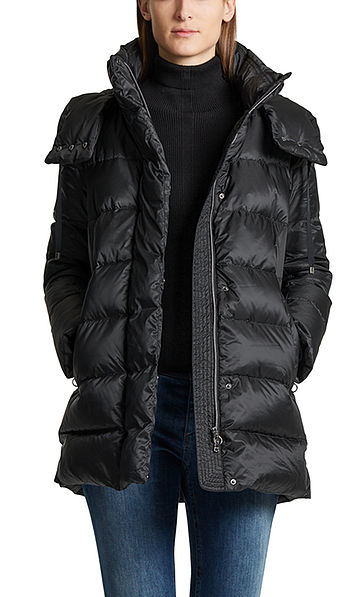 Down jacket with hood