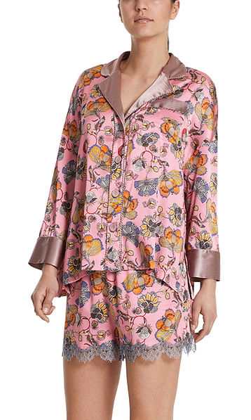 Pyjama-Jacke aus Seidensatin