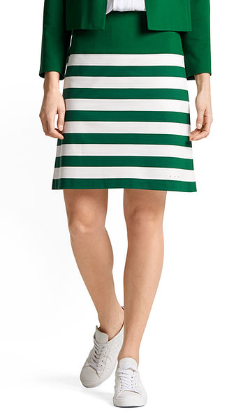 Jersey skirt with stripe