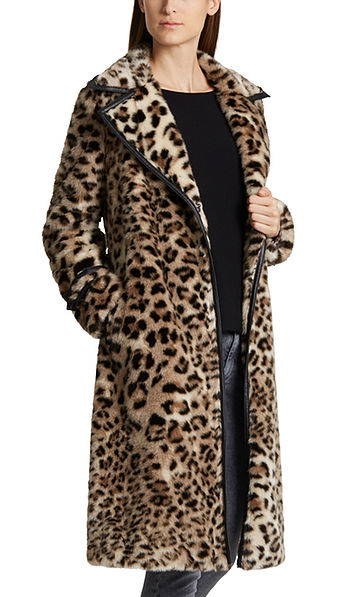Opulent faux fur coat