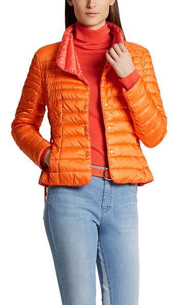 Down jacket with lacing