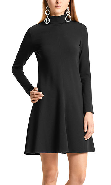 Flared roll-neck dress