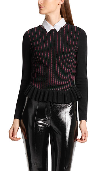Sweater with pinstripes