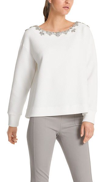 Sweat-shirt luxueux orné de strass